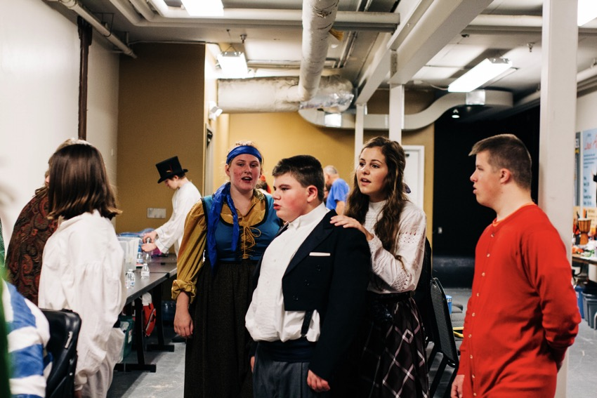 Backstage at the Peter Pan